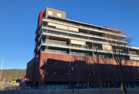 SENTRUMSNÆREBOLIGER:Beboerne i Sentrum Terrasse over Mosenteret har adresse Kvernstuveien 2.