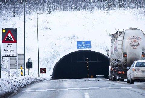 Ofte stengt: Tall fra Statens Vegvesen viser at tunnelen var stengt intet mindre enn 186 ganger i 2018. Foto: Arkiv