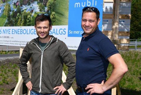 Mublis Tobias Munthe-Kaas og Christian Blix Henriksen satser stort på Nesodden.