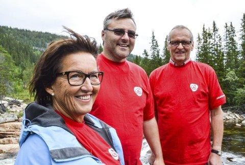 Klar: Hjørdis Stuedal, Tore Børresen og Torbjørn Wolden i Holtålen Arbeiderparti er klare for å kjempe for tronen i Holtålen. Foto: Guril Bergersen