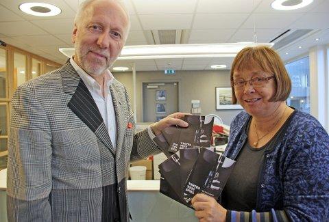 Daglig leder for Vinterfestspill i Bergstaden, Bjørn Nessjø og sekretær Kari Kluge.