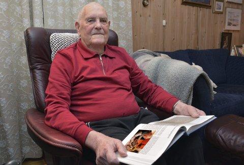 100-åringen: Erling Auestad skrev dagbok under felttoget i april 1940, og i Sandnes historielags årbok 2019 er den å lese. FOTO: YNGVE LIE