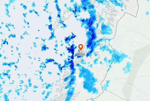 Det kommer mye nedbør den nærmeste uka i Salten.