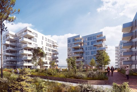 Selskapet Bonava, som har utspring fra NCC Bolig, skal i første omgang bygge 116 leiligheter på Sandsli. Prosjektet har fått navnet Sandslihøyden.