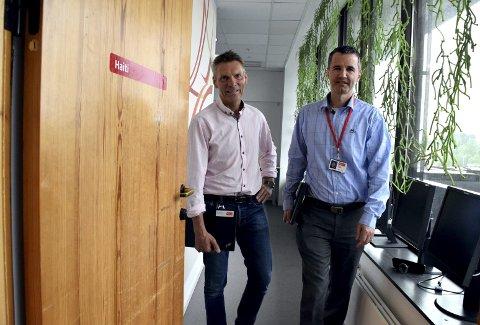 Morten Storetvedt og Ole Tom Pettersen i Tryg har mye av ansvaret for forsikringsselskapets satsing på mer digitale tjenester.