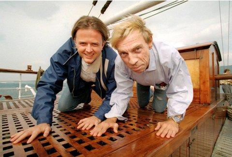 Tron Jensen og Jahn Teigen under TV 2 sin høstlansering i 1994.