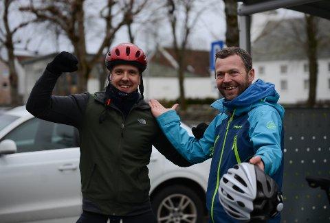 God stemning etter endt løp. Det var Jan Henrik Heggebø som kunne løfte armen i triumf etter turen fra Stavanger til Randaberg.
