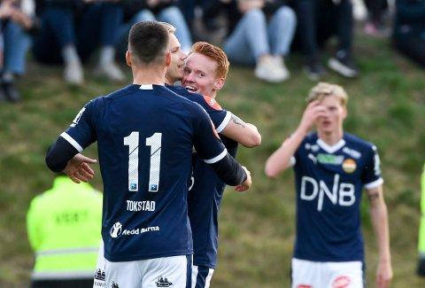 Martin Rønning Ovenstad scoret to mål for SIF i cupkampen mot Flint denne sesongen. Nå kan han være på vei til Finland.