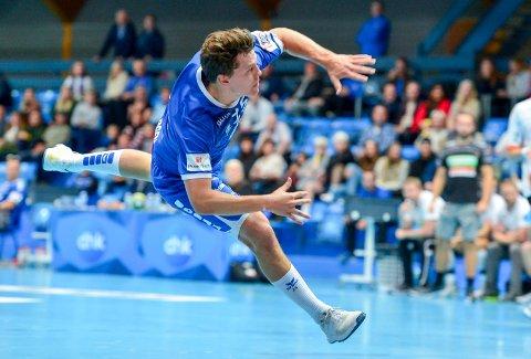Aksel Horgen har signert for den danske klubben Bjerringbro-Silkeborg. Han blir i Drammen ut sesongen. Her fra en kam mot Halden tidligere i år.