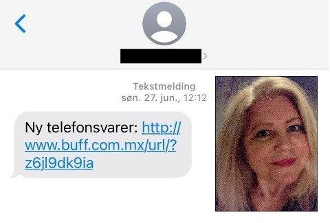 NY SVINDELVARIANT: Stadig flere mottar SMS-er som denne.