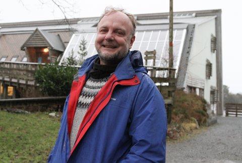 Frank Meyer er tysk, men har budd 26 år i Norge, hovudsakleg i Oslo. Vestlandsvêret er eitt nytt og førebels forfriskande bekjentskap for han.