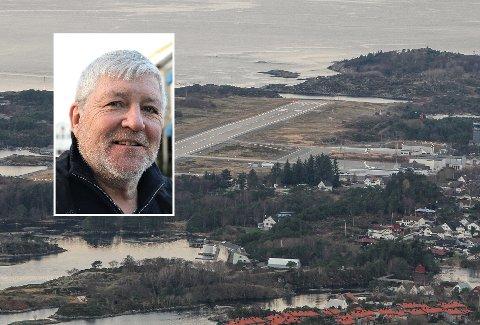 IKKJE FULL FOT: Flyruta mellom Florø og Bergen blir ikkje del av staten sitt rutekjøp frå hausten av. – Det var ikkje uventa ut i frå kva Widerøe melde førre veke, seier leiaren av samferdsleutvalet i Kinn kommune, Vidar Grønnevik.