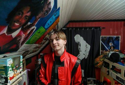 Michael Jackson-rommet: Det meste på rommet til Jens Tore Johansen handler om Michael Jackson, men også «E.T.» og «Star Wars».
