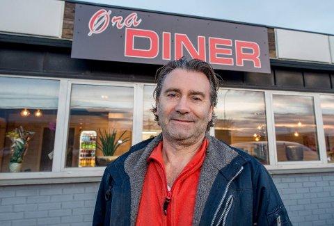 Amerikanskinspirert: Harald Gudim åpnet Øra Diner i fjor. Maten er norsk husmannskost, interiøret minner om et amerikansk spisested.