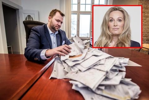 LUKSUSFELLEN: I sitt yrke som advokat har Arne Sekkelsten vært bostyrer for flere konkurser. Nå har Høyre-lederen meldt Ap på TV-programmet «Luksusfellen». Programleder Cecilie Lynum synes det er et morsomt påfunn.