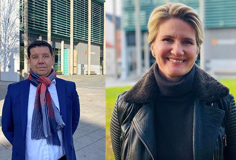 NYANSATTE: Ole Sverre Strand og Mette Leistad blir nye direktører i Fredrikstad kommune. Begge tiltrer stillingene ved årsskiftet.