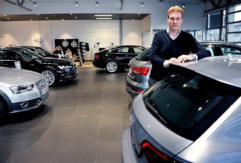 Daglig leder Kristian Walstad i Dahle Gruppen forklarer fjorårets vekst blant annet med at de traff godt på salget av de nye bilmodellene.