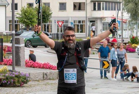 ULTRALØP: For noen uker siden fullførte Arild Brudevoll Johansen fra Skoppum Stranda Fjord Trail Race.