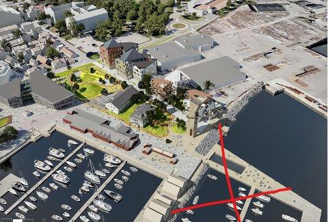 NABOER: Planene for Havneparken endrer seg hele tiden. Kystverket har satt en stopper for planer om ny båthavn og basseng utenfor dagens gjestehavn.