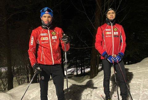 Fra venstre Magnus Bjerkreim (16) og Samuel Kleppa (17) skulle begge deltatt på skirenn på Hovden i helga, det ble derimot avlyst.