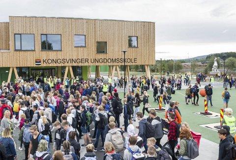 LEGGES MERKE TIL: Treindustrien er imponert over Kongsvinger ungdomsskole.