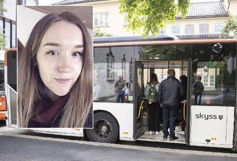 Sara (29) forteller at hun har tatt bussen mange ganger før, men har aldri opplevd en lignende episode med en bussjåfør.