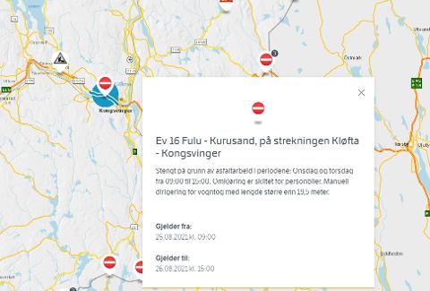 ASFALTERING: Statens Vegvesen meldte veiarbeidet på sine nettsider, men ute i trafikken opplever bilister manglende informasjon.