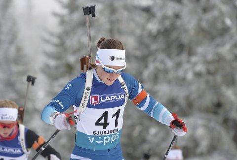 BRA: Sigrid Bilstad Neraasen er klar for IBU-cup etter seieren i norgescupen i Folldal.