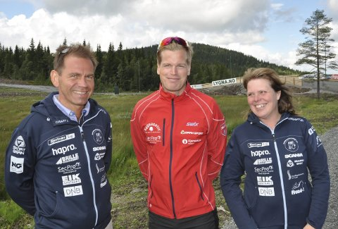 LYGNA: Jakob Ruud (til venstre), Jacob Aspelin og Anne Lise Hansen håper at Lygna blir arena både for trening og undervisning fra høsten.