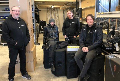 MISTER JOBBER: Jøran Aleksandersen (f.v.), Jonny Olsson, Kim Aleksandersen og Lars Ramberg opplever bråstans i oppdrag. Det får store konsekvenser.