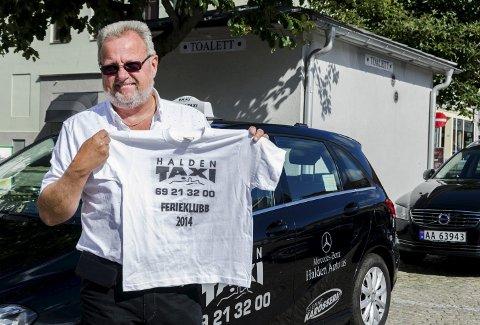 TIL LISEBERG: Bent Skogli og Halden Taxi er klare for å ta med 160 barn til Liseberg.