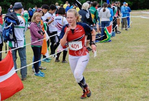 VANT B-FINALEN: Idun Felde Olaussen fikk en opptur under junior-VM da ho vant B-finalen på mellomdistansen.