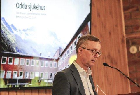 Vant til krav og kritikk: Olav Klausen fortalde at bekymringane og kritikken er knallharde over alt i Helse Fonna. Foto: Synnøve Nyheim