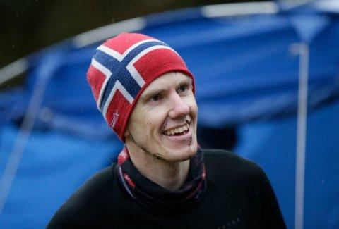 TIL TOPPS: - Det er kjekt å være med på lokale løp, sier Jarle Kolbeinsen fra Haugesund Triathlonklubb, som vant «Tre topper i Djupadalen».