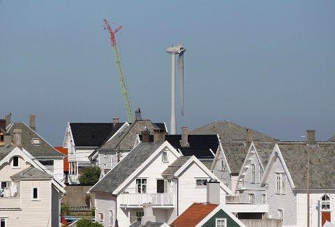 SLIK SER DEN UT FRA HAUGESUND: Bildet er tatt på Hasseløy bro i Haugesund torsdag.