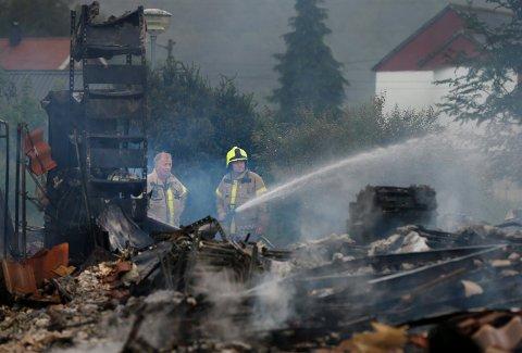 BRANT NED TIL GRUNNEN: Vindafjordhallen brant ned til grunnen natt til 22. juli i år. Nå er etterforskningen avsluttet.