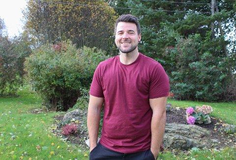 TID: Nå jobber Alex Porter på Hos Carlos. Men før det hadde han mye tid til overs. Bedet i hagen var noe av det han stelte med i denne tiden.