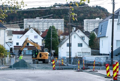 STENGES NÅ: Krysset Stavangergata-Rogalandgata blir uframkommelig med kjøretøy fra og med onsdag.
