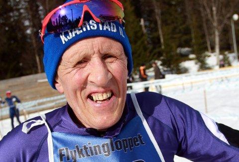 Jubileum: Flyktningerennveteranen Jan Aufles holdt bra fart da han fullførte rennet for 40.gang sist helg. foto: svein halvor moe
