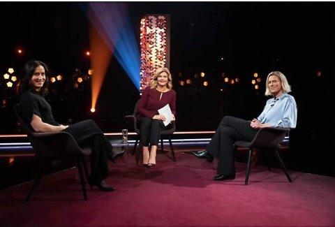Guro Strøm Solli på Lindmo sammen med  Marit Bjørgen og Anne Lindmo
