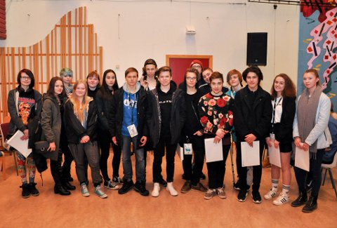 VIDERE: Disse gikk videre til landsfinalen fra fylkesfinalen i UKM i Finnmark i Alta denne helgen.