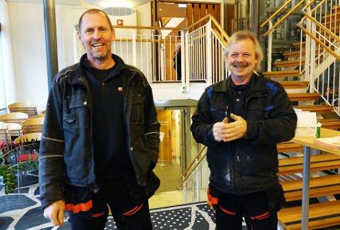 MUNTRE HERRER: Tore Amundsen og Leif-Ove Pedersen.