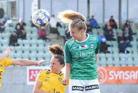 NY SESONG: Mille Aune fikk en del spilletid for Klepp i 2020, hennes første sesong i Toppserien. Mye tyder på at det blir mer i 2021 for 18-åringen.