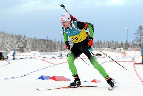 TOPPLØP: Martin Femsteinevik leverte ein god prestasjon då han gjekk inn til andreplass i norgescuprennet i skiskyting på søndag.