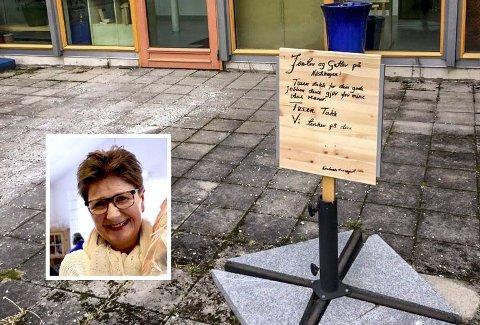 Hyggelig hilsen: Aktivitør Gunnbjørg Johansen ved Nøstehagen sier de setter stor pris på hilsenen.