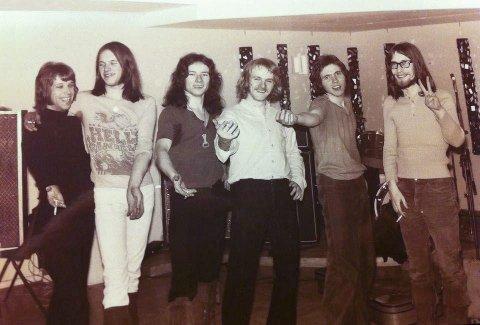 Prudence 1971: f.v. Stein Ingebrigtsen, Kjell Ove Riseth, Åge Aleksandersen, William Hakvaag, Kåre Skjevik og Per Erik Wallum.