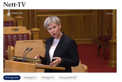Åsunn Lyngedal (Ap) i Stortingets spørretime onsdag 18. november.