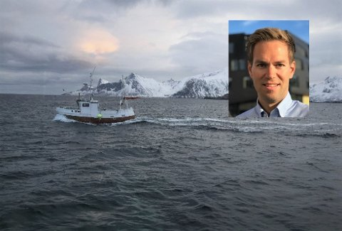 Ifølge omsetningsdirektør Charles Aas (innfelt) i Norsk råfisklag er skreifangsten hittil i år nesten halvert sammenliknet med fjoråret.