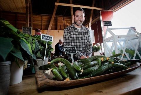 Kristian Guren produserer 400 tonn agurker i året og forrige uke vant gartneriet BAMAs leverandørpris. For andre gang!