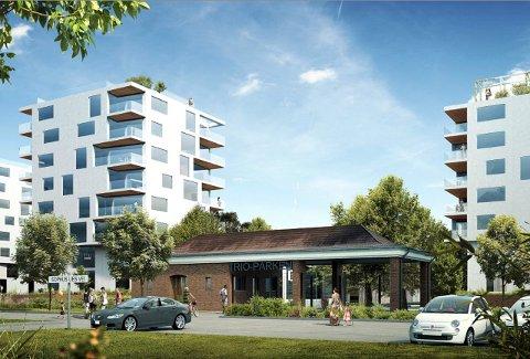 ROSENVINGE PARK: Den planlagte høyhusbebyggelsen på Høyda er omstridt, men Enata har nå fått grønt lys i teknisk utvalg i Moss kommune.